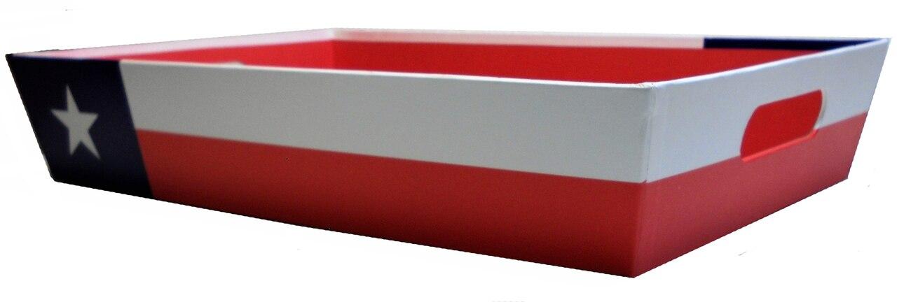 17″ Texas Flag Gift Tray 1