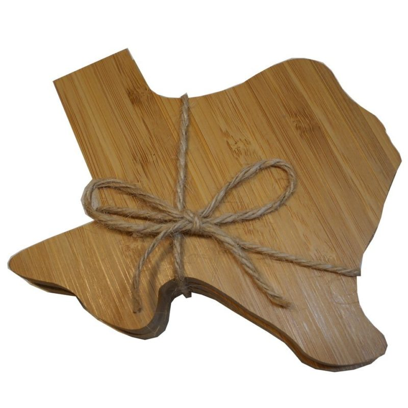 Texas Shaped Bamboo Coaster Set