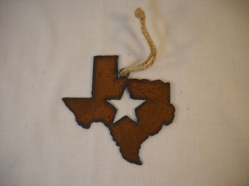 Rustic Iron Lonestar Ornament