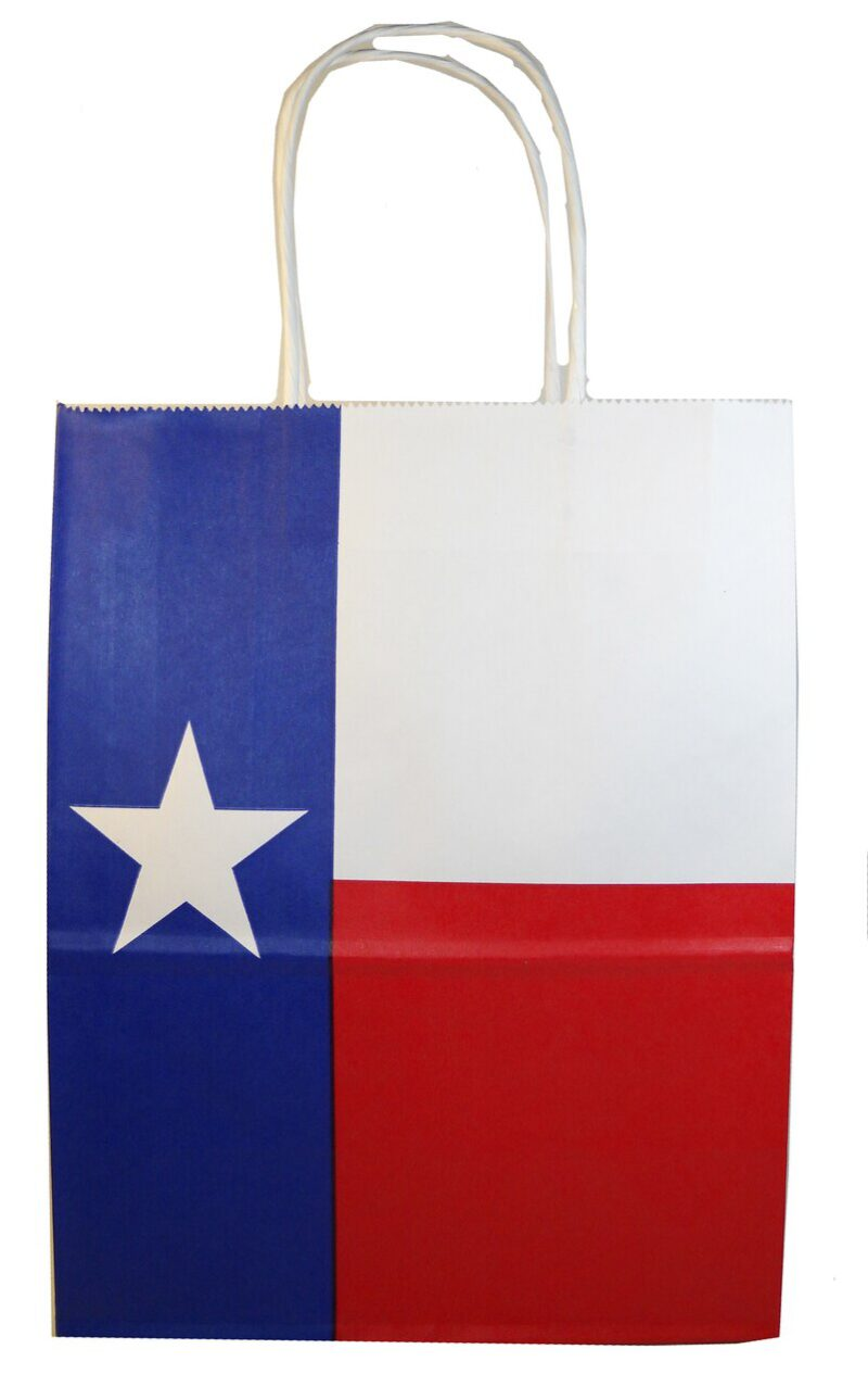 Texas Flag Paper Gift Bag