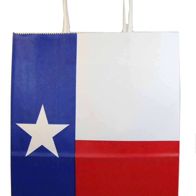 Texas Flag Paper Gift Bag