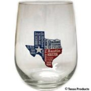 Texas State Wine Glass