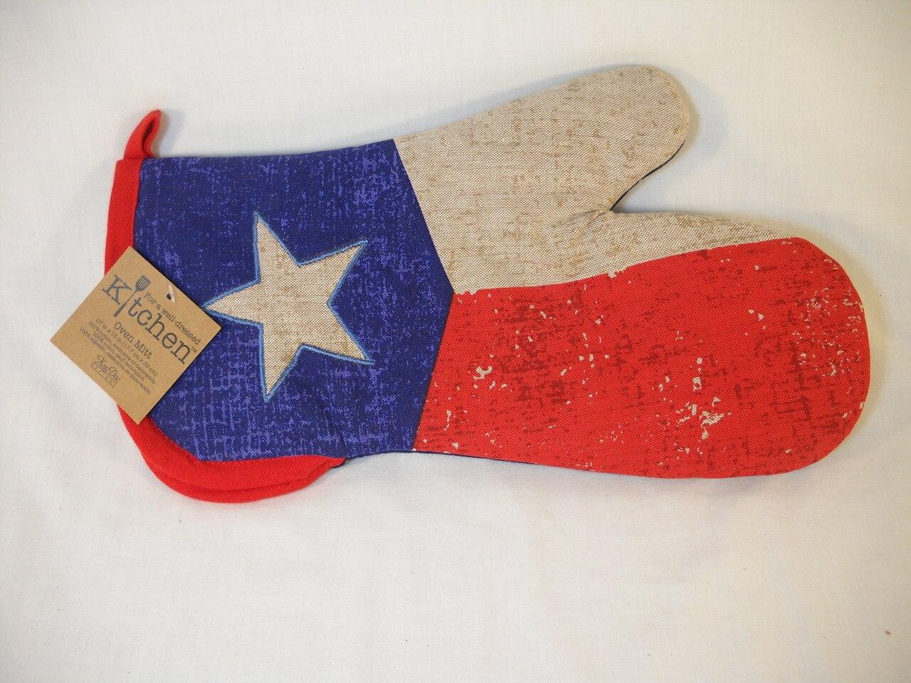 Texas Flag Oven Mitt 1
