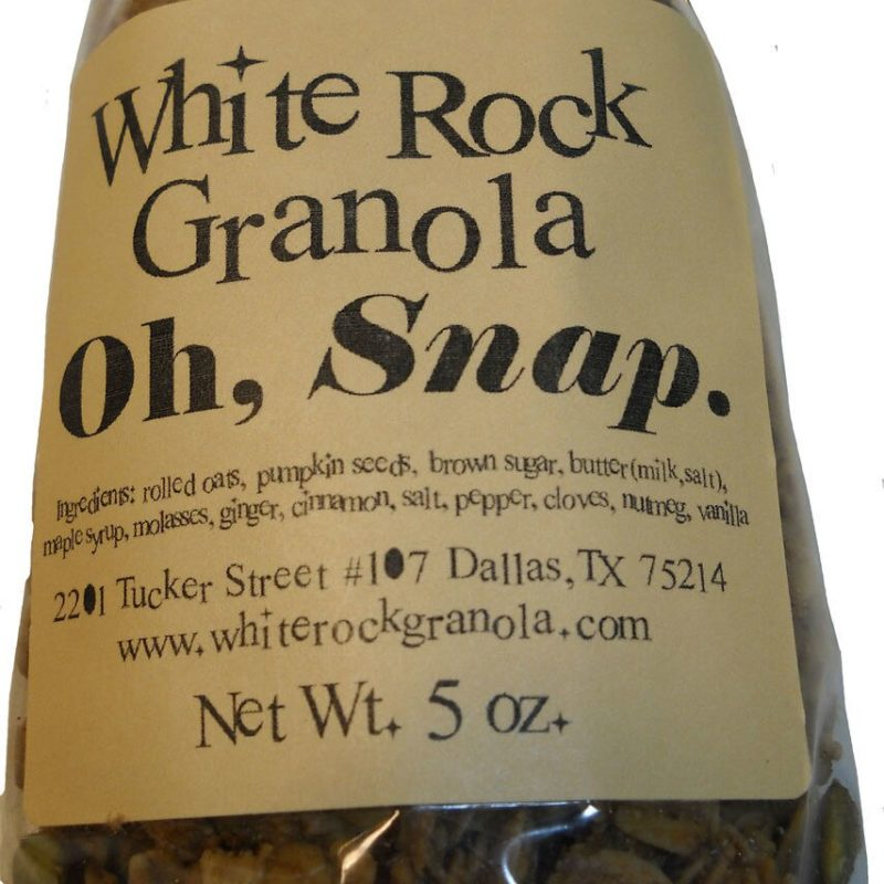 Oh, Snap Granola