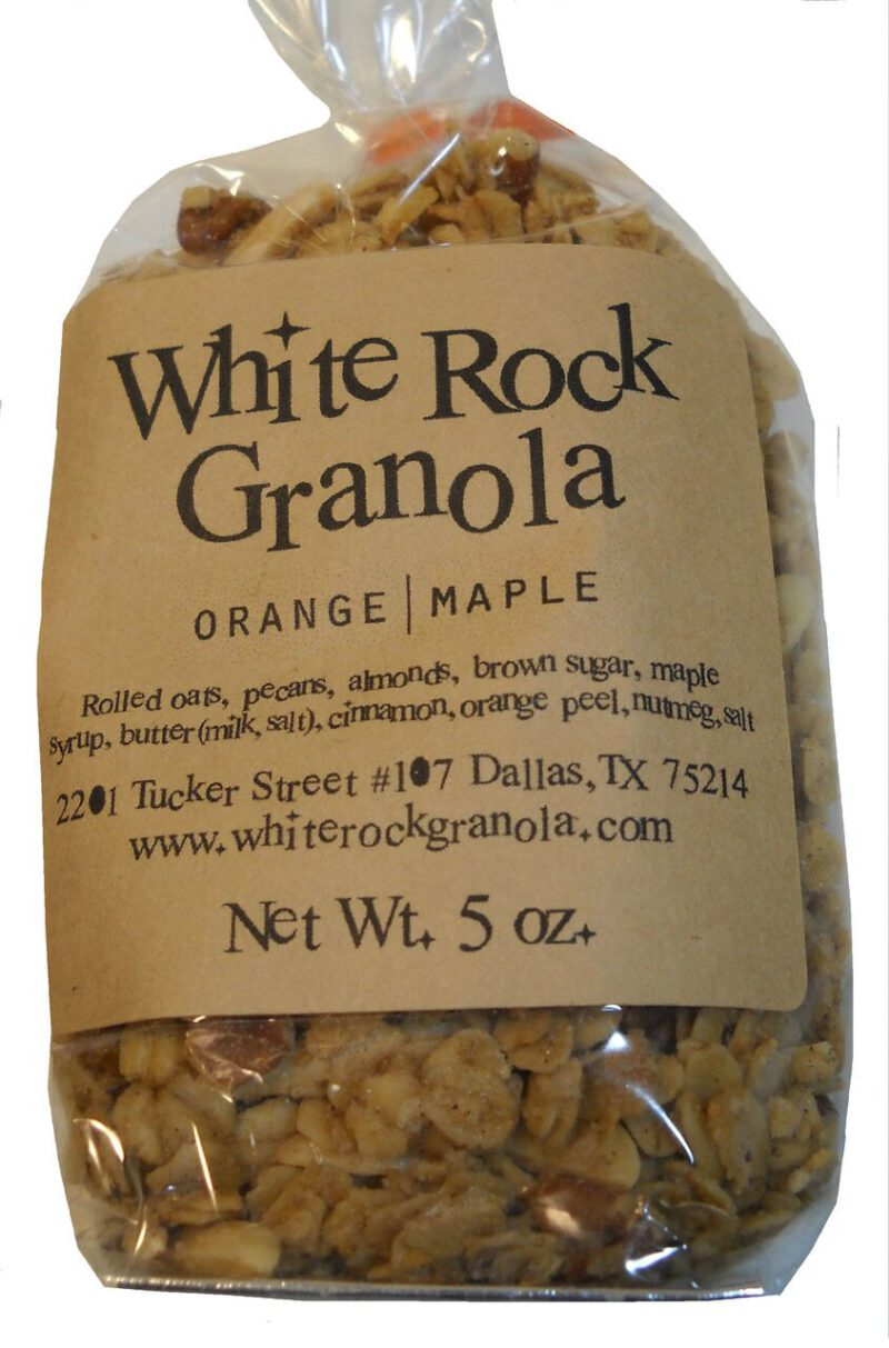 Orange Maple Granola