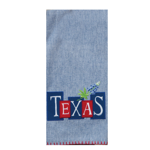 Texas Star Blue Bonnet Tea Towel
