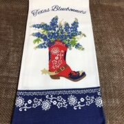 Bluebonnet Boot Tea Towel