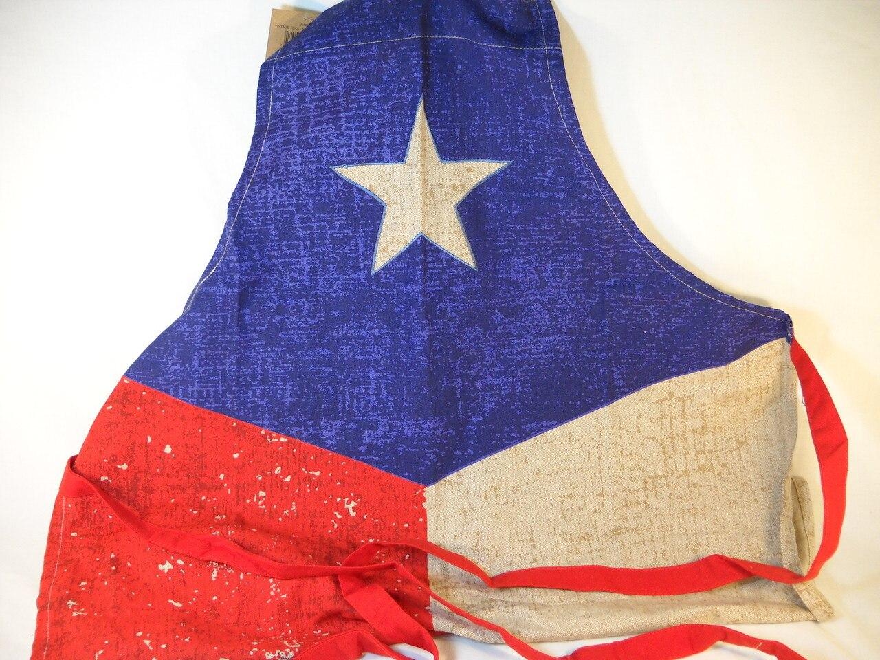 Vintage Texas Flag Chef Apron 1