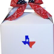 White Gable Boxes with Bows Set of 3