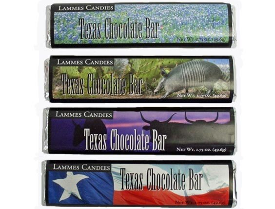 Lammes Milk Chocolate Bars - Assorted Texas Theme Wrapper