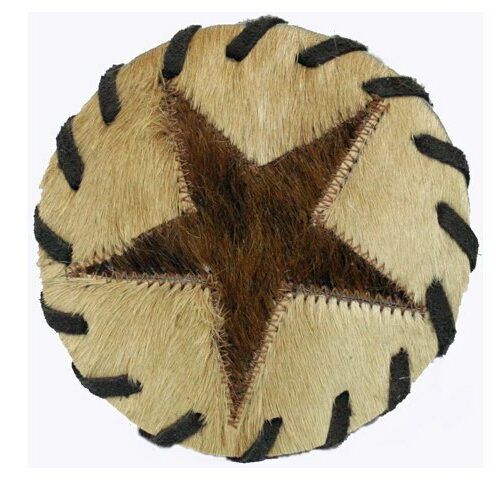 Cowhide Coaster