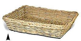 White Washed Wicker Tray