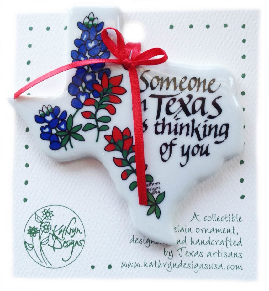 Someone In Texas Is Thinking Of You – Texas Shaped Ornament 1