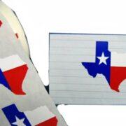 Texas-Shaped Sticker-10 set