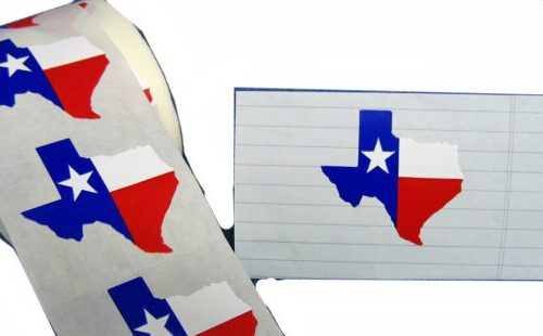 Texas-Shaped Sticker-10 set