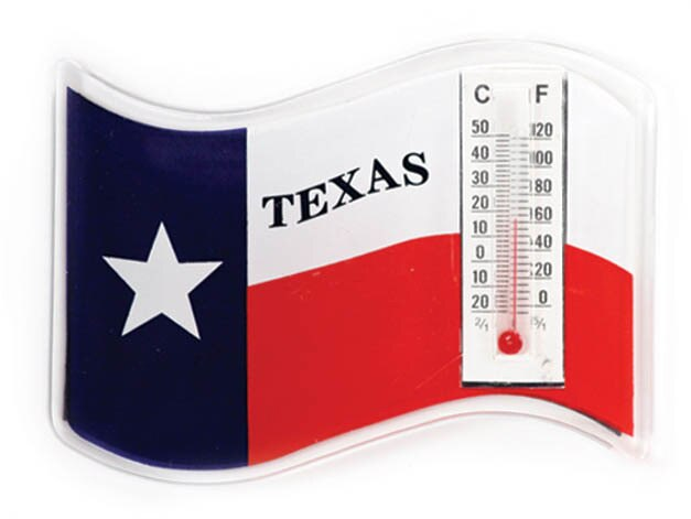 Texas Flag Thermometer