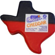 Texas shaped Cheddar Cheese