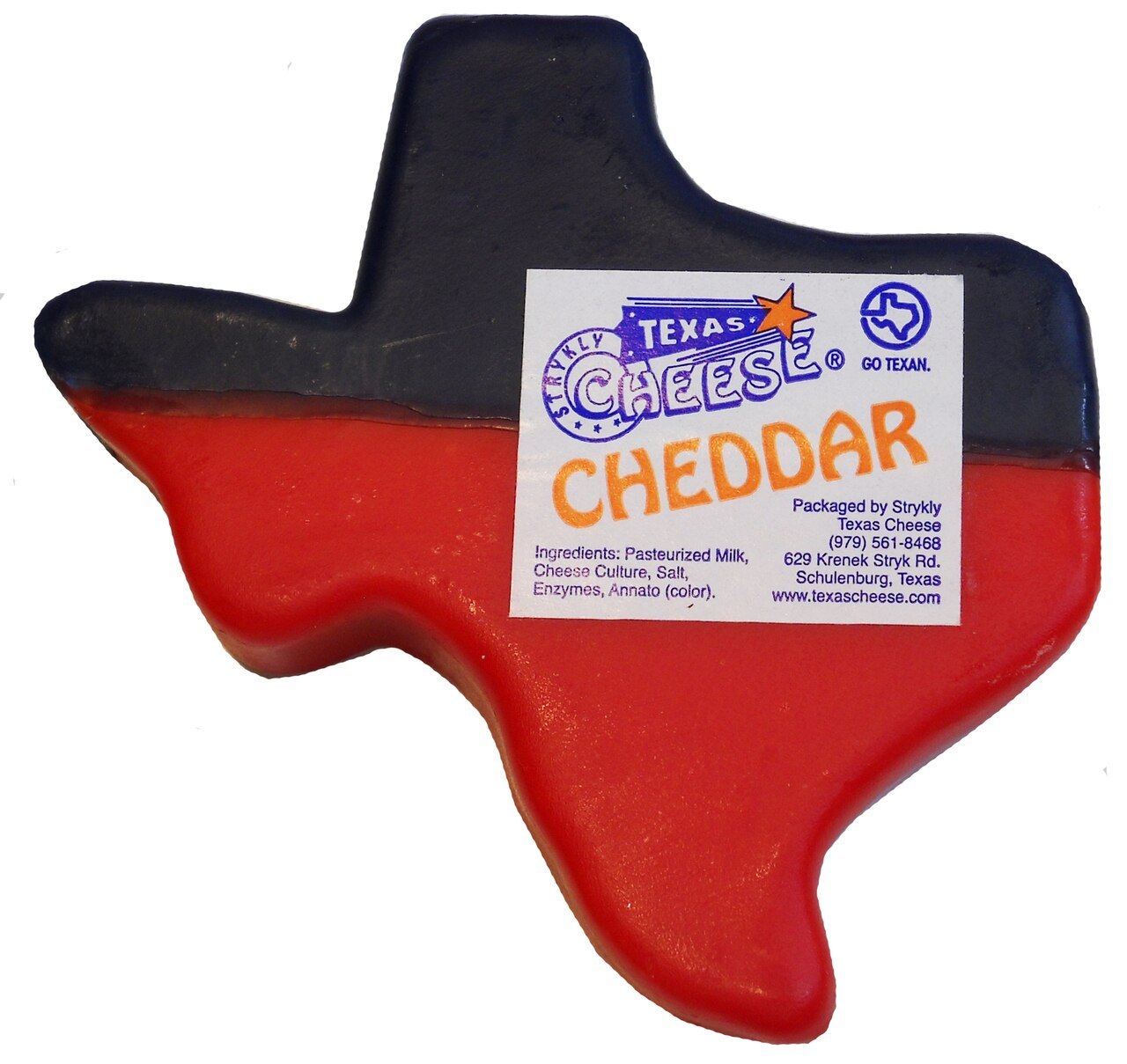 Texas shaped Cheddar Cheese 1