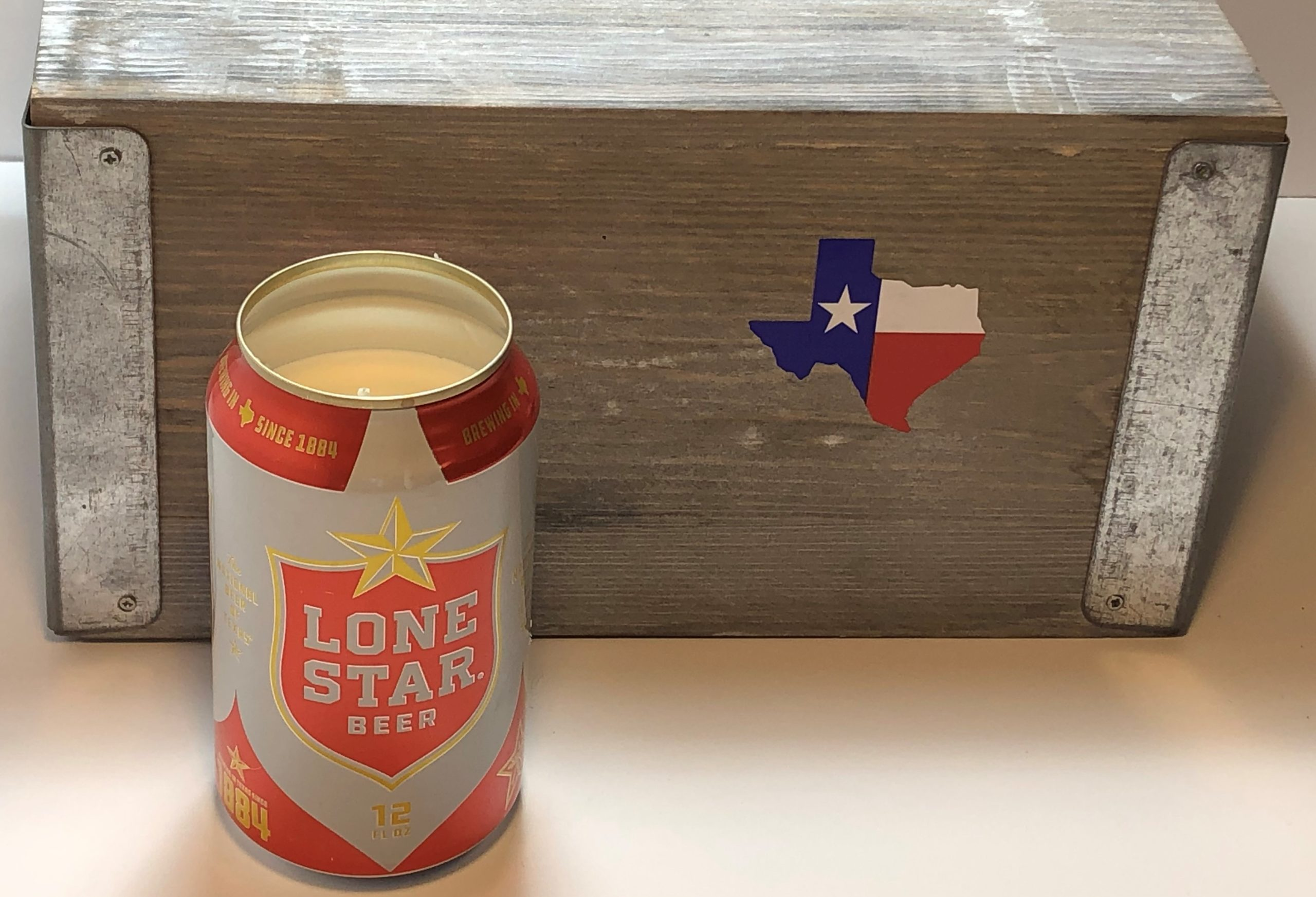 Lone Star Beer Can Candle